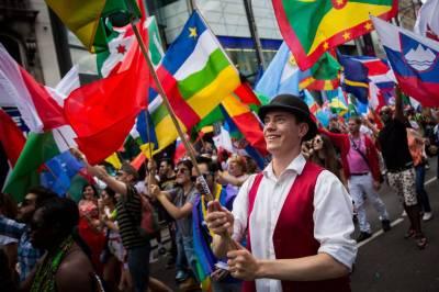 Pride flagbearers